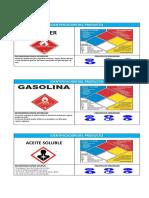 Etiquetas de Sustancias Quimicas
