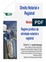 Curso Direito Notarial ESAF 2016 Módulo 1 Regime Jurídico Notarial e Registral