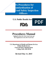 FDA Procedures for Standardization of Retail Food Safety Officers 2013