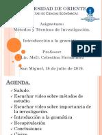2 Clase-02 Introducción a La Gramática Ciclo-02-2019[1]