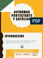 Reforma Protestante y Contrarreforma