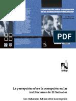 LA PERCEPCIÓN DE LA CORRUPCIÓN EN LAS INSTITUCIONES PÚBLICAS DE EL SALVADOR