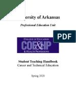 cate spring 2020 student teaching handbook