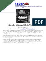 Chrysler Mitsubishi 3.0L V6 Engine