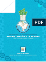 Caderno de Resumos VI Feira Científica de Sergipe - Out 2016