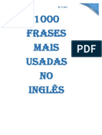 1000 frases mais usadas no inglês