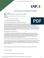 International Best Practices for Maritime Pilotage - UK P&I