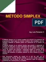 Método Simplex - Profesor Luis Pomares V.