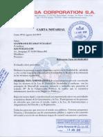 Carta Notarial - Respuesta de NIISA a cuestionario de Ojo-Publico.com