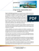 Trucheros Del Lago de Tota Comprometidos Con El Ambiente