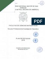 Plan de estudios Investigacion Operativa UNMSM