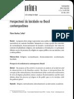 Revista Contemporânea_Dossiê Desafios Contemporãneos Da Sociologia Da Religião_Sofiati_Perspectivas Da Laicidade No Mundo Contemporâneo