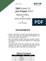 CBSE Physics Project