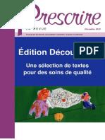 Revue Prescrire Decembre 2018