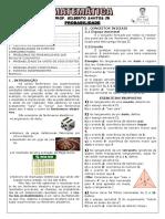 Apostila de Probabilidade (9 Páginas, 69 Questões, Com Gabarito)