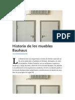 Historia de los muebles