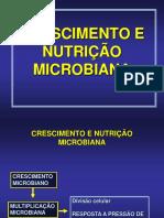 crescimento e nutrição bacteriana