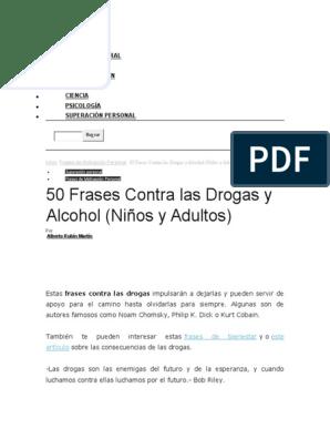 50 Frases Contra La Drogadiccióndocx Drogas Vida