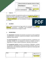 PRG-SST-001 Programa de Capacitación y Entrenamiento