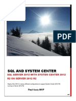 SQL and System Center 2012 R2