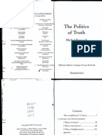 31407326 Foucault the Politics of Truth[1]