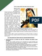 CUÁLES FUERON LOS MILAGROS DE SANTA ROSA DE LIMA.docx