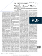 Discurso Pidal. Congreso de los Diputados. España siglo XIX.