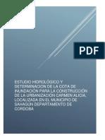 Estudio Hidrológico y Determinacion de La Cota de Inundación Para La Construcción de La Urbanización Carmen Alicia