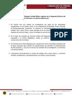 Comunicado de Prensa Ejército Barrancabermeja
