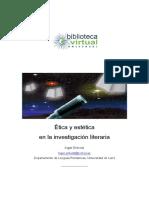 Ética y estética en la investigación literaria