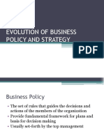 Evolution of Business Policy and Strategy
