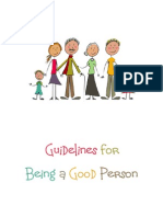 Guidelines for Being a Good Person