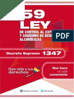 LEY 259 DE CONTROL AL EXPENDIO Y CONSUMO DE BEBIDAS ALCOHÓLICAS