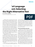 Proposeful Language Assessment Selecting the Right Alternative Test