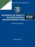 incidencia de rhizotonia  sclerotium
