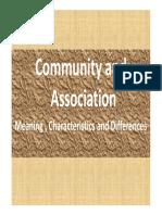 Unit 2 Association and Community