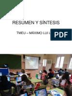 TMEU 009 RESUMEN Y SÍNTESIS