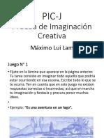 PIC-J Prueba de Imaginacion Creativa Items 2017