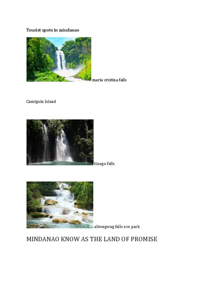 Mindanao Tourist Spots Tagalog