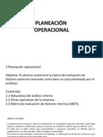 Planeación Operacional