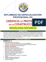 Diplomado Gerencia de Proyectos en La Construccion.