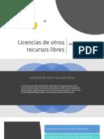 Licencias de Otros Recursos Libres