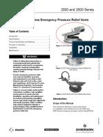 Instruction Manual Enardo 2000 2500 Series Emergency Pressure Relief Vents North America Only en 122600 3
