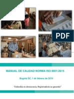 Manualde Calidad ISO 9001 - 2015 Registraduria