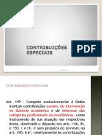 Direito Tributário Contribuições Especiais