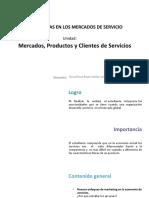 U1_Mercados, Productos y Clientes de Servicios