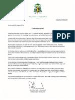 Archbishop Peter Comensoli's statement