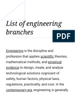 List of Engineering Branches