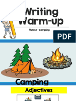 writing warm-up camping