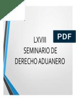 Seminario de Derecho Aduanero